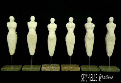 Mythologies. Les figurines sont des femmes au ventre rond signifiant la fécondité.